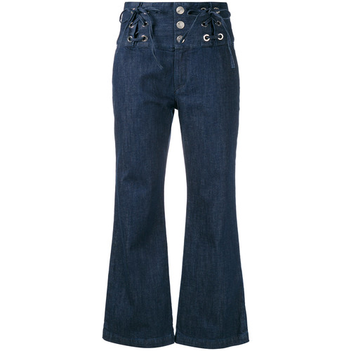 SEE BY CHLOÉ Lace Front Cropped Jeans