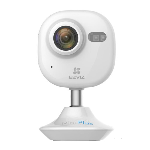EZVIZ Mini Plus HD 1080p Wi-Fi Video Security Camera 16GB MicroSD Works with Alexa Using IFTTT, White