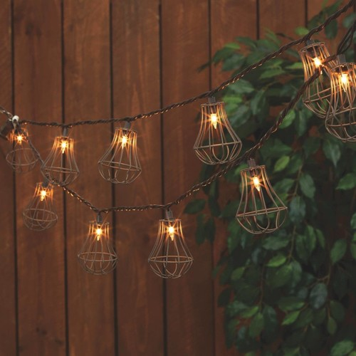 Everlasting Glow Rustic Cage String Lights - 2262180