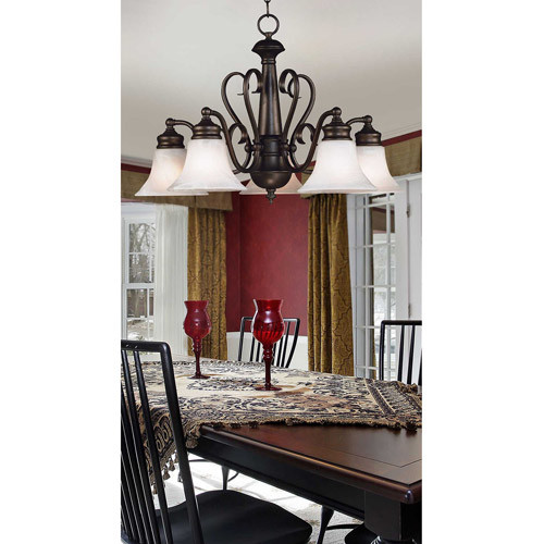 Kenroy Home 91395BBZ Wynwood 5-Light Chandelier, Burnished Bronze [Burnished Bronze]