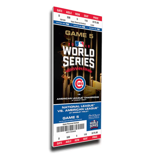 Chicago Cubs 2016 World Series Game 5 Mega Ticket