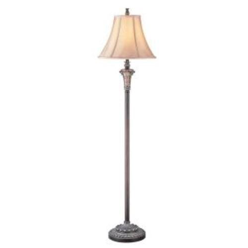 OK LIGHTING 62.5 in. Wooden Color Floor Lamp