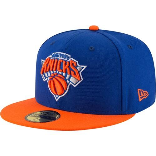 Era Men's New York Knicks 59Fifty Royal/Orange Fitted Hat