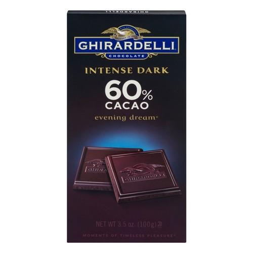 Ghirardelli Intense Dark, Chocolate Evening Dream 60% Cacao, 3.5 Oz, Pack Of 12 Bags