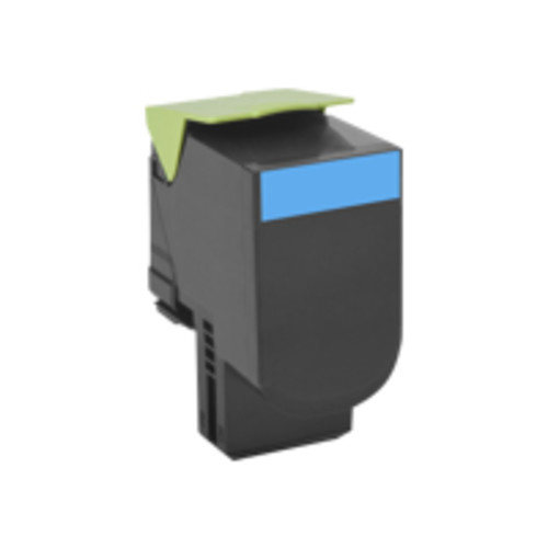 Lexmark - 70C1HC0 - Lexmark 701HC Toner Cartridge - Laser - High Yield - 3000 Pages - Cyan - 1 Each