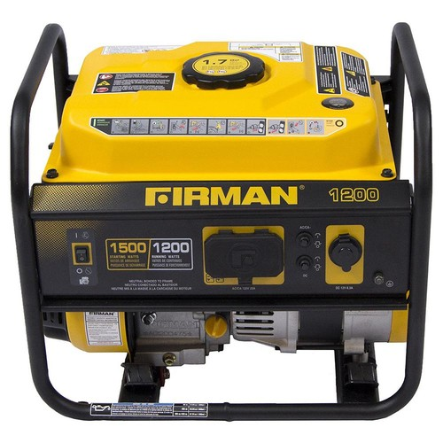 Firman 1200-Watt Gas Powered Recoil Start Portable Generator with OHV Engine