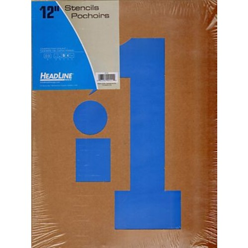 Headline Stencil Kits Gothic Numbers 12 In. (111)