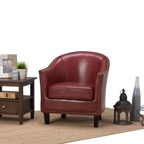 Simpli Home Kildare Tub Chair in Radicchio Red (AXCTUB-004-RRD)