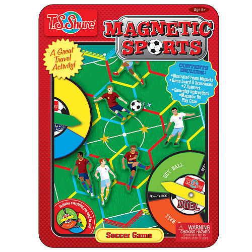 T.S. Shure Soccer Magnetic Sports Game Tin Set