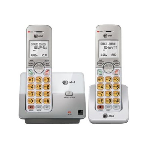 AT&T EL51203 DECT 6.0 2-Handset Expandable Cordless Phone with Caller ID/Call Waiting, Silver