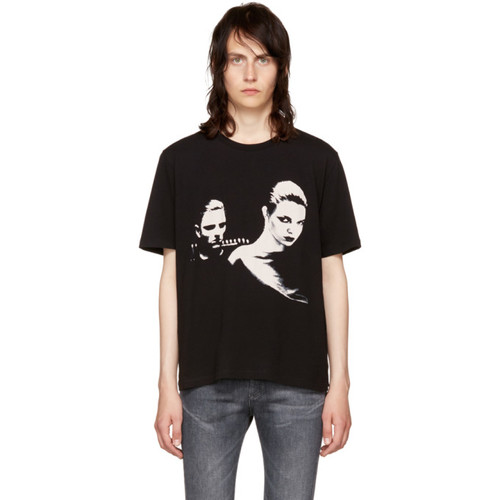 SAINT LAURENT Black Couple T-Shirt