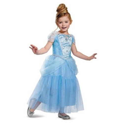 Disney Princess Girls' Cinderella Sparkle Deluxe Costume