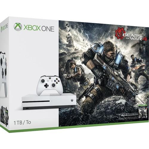 Microsoft - Xbox One S 1TB Gears of War 4 Console Bundle with 4K Ultra HD Blu-ray - White