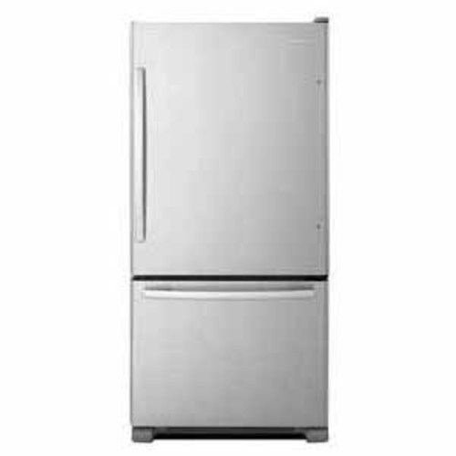 Amana 22 cu ft 33 Wide Bottom-Freezer Refrigerator with EasyFreezer Pull-Out Drawer - Stainless Steel