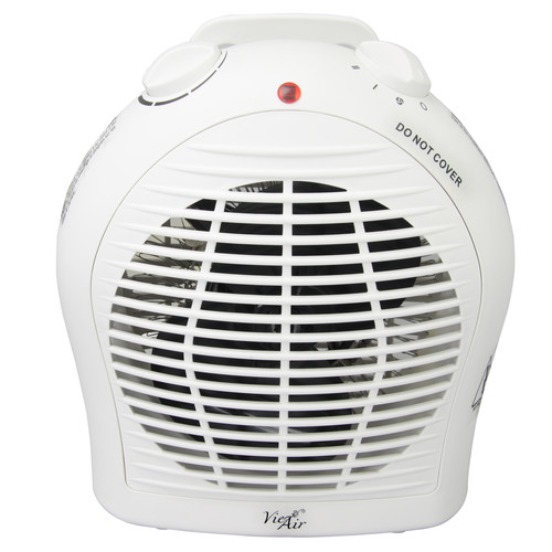 Vie Air 970100344M 1500W Portable Dual Setting White Fan Heater with Adjustable Thermostat