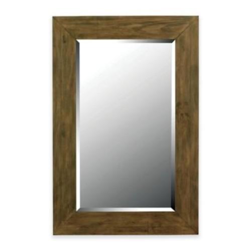Kenroy Home Eureka 28-Inch x 42-Inch Wall Mirror in Dark Wood