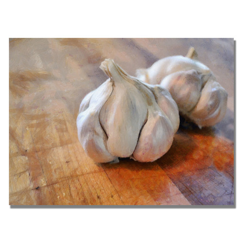 Trademark Global Michelle Calkins 'Garlic' Canvas Art [Overall Dimensions : 35x47]