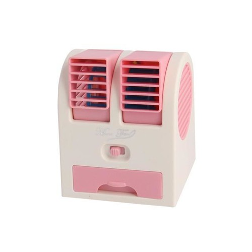 Portable Home Office Bladeless Cooling USB Battery Powered Personal Mini Fan Pink