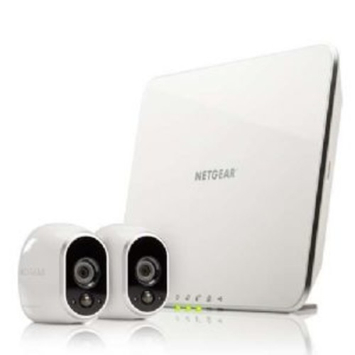 NETGEAR Arlo (Certified Refurbished) Smart Security System- 2x Camera Kit for indoor or outdoor with rechargeable battery and Night Vision (VMS3230-100NAR)