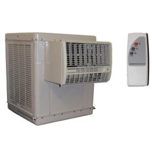Champion Cooler 4700 CFM 2-Speed Window Evaporative Cooler for 1600 sq. ft. (with Motor and Remote Control)