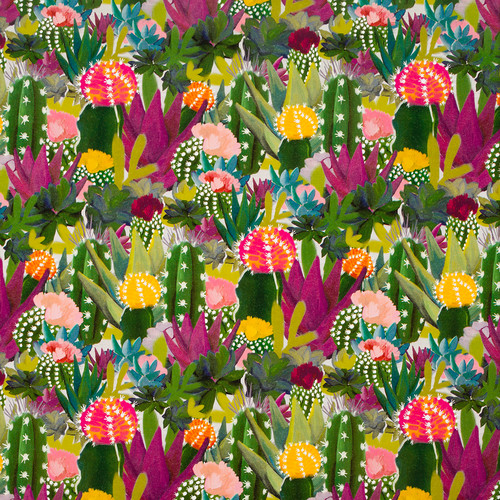 Colorful Cacti Wrapping Paper