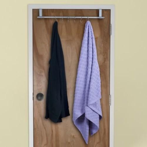 Lavish Home Over-The-Door Hanging Rack, Silver