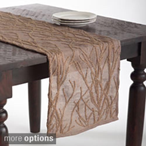 RLF Home Galahad Chestnut Tasseled Table Runner