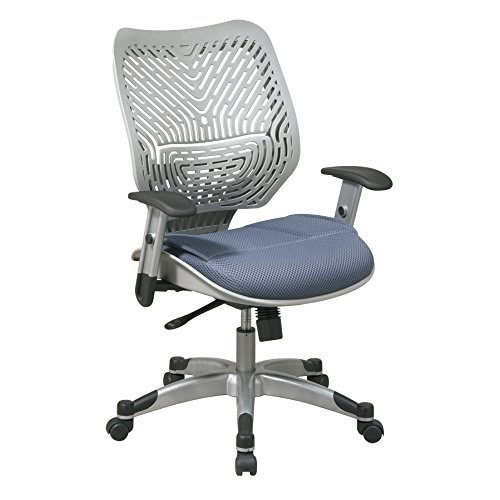 Office Star SPACE Collection: REVV Space-Flex Back Managers Chair in Fog and Blue