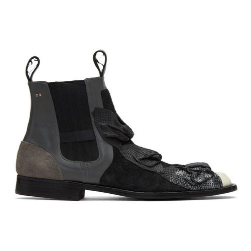 COMME DES GARÇONS Black Bows Chelsea Boots