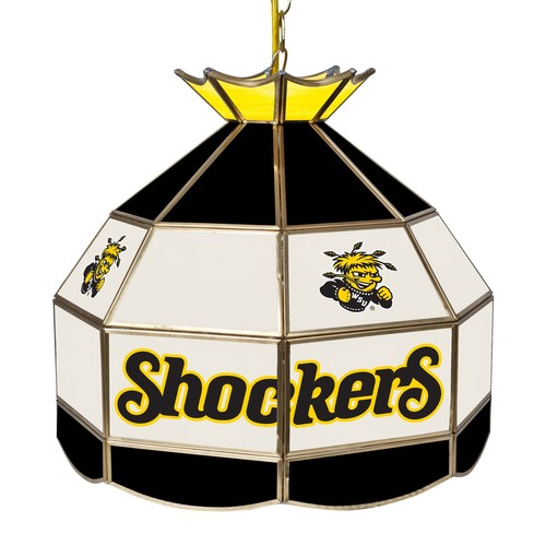Wichita State University 16 inch Stained Glass Tiffany Style Lamp