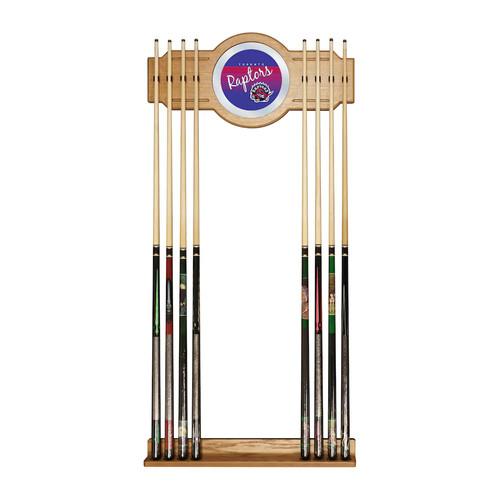 Toronto Raptors Hardwood Classics Billiard Cue Rack with Mirror