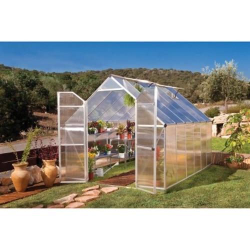 8' x 12' Essence Silver Greenhouse - Silver - Palram