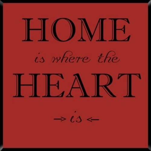 PTM Images Home is Where The Heart is Textual Art