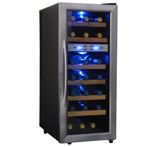 Air AW-211ED Streamline 21 Bottle Dual Zone Thermoelectric Wine Cooler, Stainless Steel [Stainless Steel]