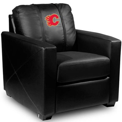 Dreamseat Silver Club Chair; Calgary Flames - Red