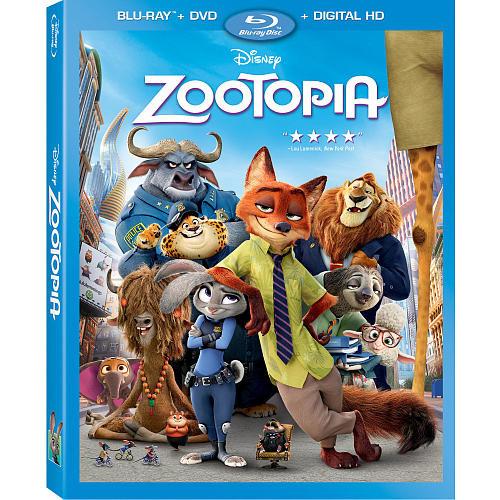 Zootopia Blu-Ray Combo Pack (Blu-Ray/DVD/Digital HD)