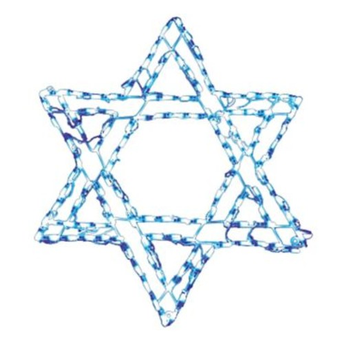 Brite Ideas Star of David 132 Light LED Rope Light