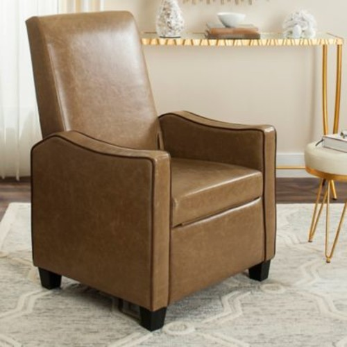 Safavieh Holden Recliner Chair in Tan