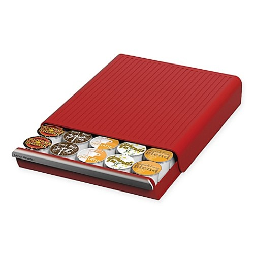 Mind Reader Coupe 30-Pod Coffee Drawer in Red