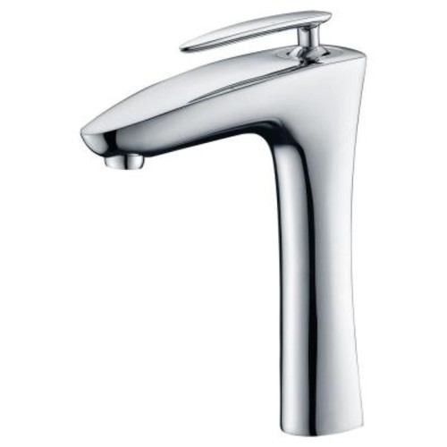 ANZZI Crown Single Hole Single-Handle Vessel Bathroom Faucet in Polished Chrome