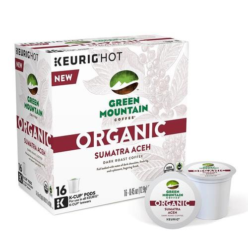 Keurig - Green Mountain Coffee Organic Sumatra Aceh Dark Roast K-Cup Pods (16-Pack) - Multi
