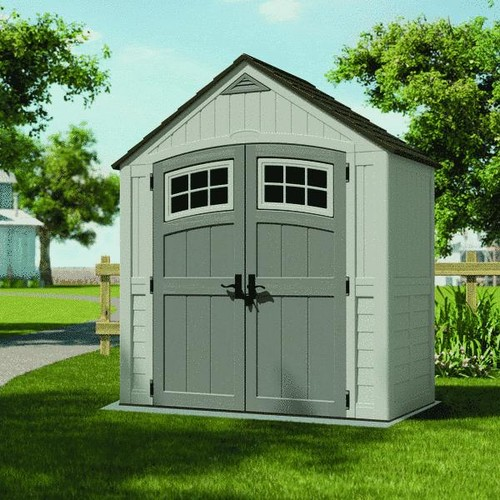 Suncast 7X4 Blow Molded Resin Storage Shed - BMS7400