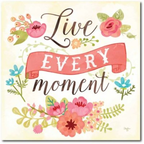 Live every moment Canvas Wall Art