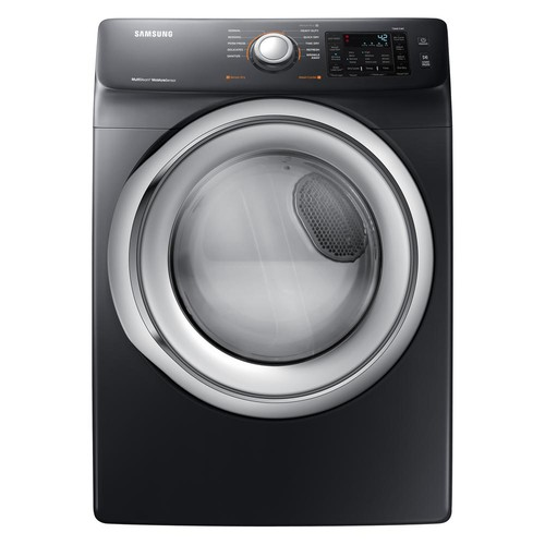 Samsung 7.5 cu. ft. Gas Dryer with Steam in Black Stainless Steel