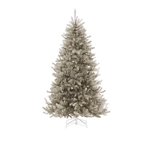 Martha Stewart Living 7.5 ft. Sterling Tinsel Silver Champagne Artificial Mixed Christmas Tree