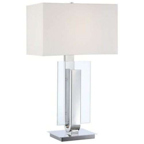 P794 Table Lamp (Polished Nickel) - OPEN BOX RETURN [Shade Color : White]