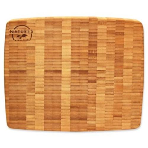 Nature's Essentials 16-Inch x 10-Inch Bamboo End Grain Cutting Board