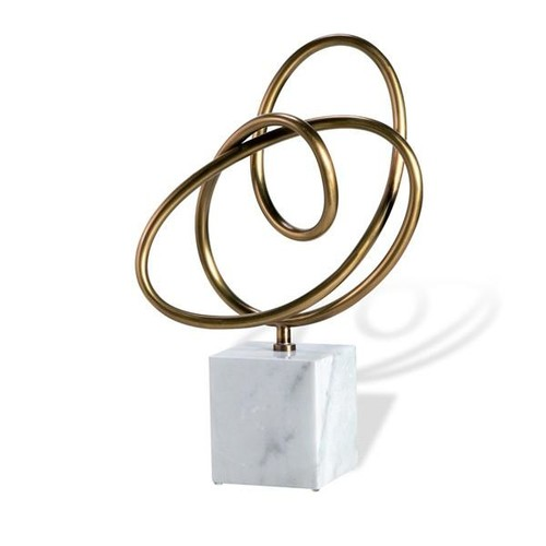 Boucle Knot in Antique Brass design by Interlude Home