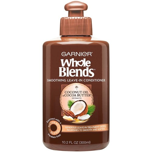 Garnier Whole Blends Coconut Oil & Cocoa Butter Extracts Smoothing Leave-In Conditioner, 10.2 fl oz, 1 Count