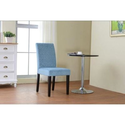 Linon Home Decor Upton Blue Microfiber Parsons Side Chair (Set of 2)